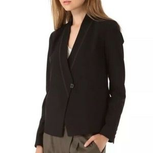 VINCE Asymmetrical Black wool Blazer Jacket sz 6